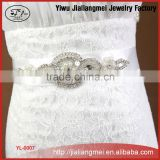 Handmade luxury rhinestone wedding white body jewelry belt girdle Korean bridal dress accessories