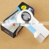 12X Jeweler Magnifier Handheld Glass Magnifying Reading Map Loupe w/ 2 LED Light