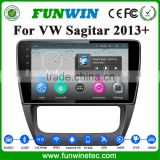 Funwin android 4.4.2 car headrest dvd player For VW SAGITAR support 3G BT WIFI DVR MP3/4 USB GPS function