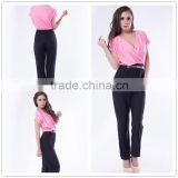 Latest design high quality sexy mature women jumpsuit 2014
