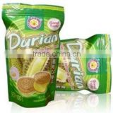Sandwich Cookies Filled Durian Flavour Cream [ Thai snacks ]
