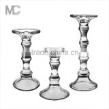 Wholesale Bamboo-shaped Long-stemmed Crystal Glass Candle Holder