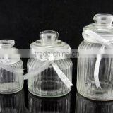 machine made bulk glass candy jars on sale for home decoration