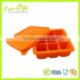BPA Free Silicone Baby Food Storage Freezer Container With Lid, Silicone Whisky Ice Tray