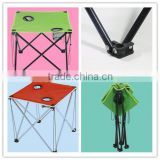 folding camping table with cooler bag