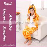 Manufacture Coral Fleece Unisex Casual Sleepwear Animal Onesie Cow Pikachu Tiger Giraffe Adult Dinosaur Pajamas