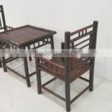 Bamboo set of table and chair, dining set, garden set