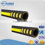high pressure steel wire braided rubber hose , made of synthetic rubber and wire reinforcement