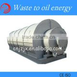 efficiency waste plastic pyrolysis machine / used tyre recycle machine for fuel oil with no pollution