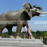 large outdoor copper sculptures metal craft life size elephant statues