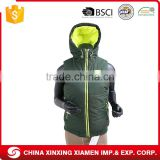 Wholesale Cheap Winter Waistcoat Outdoor Sports Quilted Vest Women With Fashion Hoody