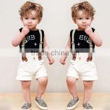 Hot sell baby clothes sets cool boy 2 pcs overall suit for kid's summer infant garment wholesale children's boutique clothing