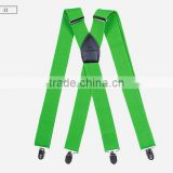"1.5"" Wide Solid Color Mens Suspender X Type Undergarment Suspender Brace Casual Business"