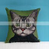 Hot Sale Creative Cat Pattern Decorative Pillows,Christmas Decorations Printing Cushion, Covers Can design logo