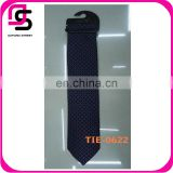 2014 Latest fashion design dot printed blue silk tie for men