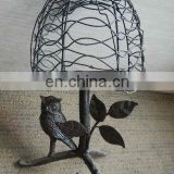 metal birdcage shape candlestick decorative