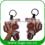 Various Shapes Fashion Pvc And Eva Personalized Solar Led Keychain