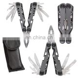 11in 1 foldable stainless steel and aluminum multi plier tools including knife,phillips and more