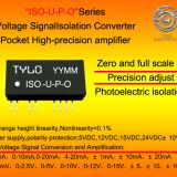 ISO-U3-P1-O4 Voltage Photoelectric isolation Converter Pocket High-precision adjust amplifier 0-75mV covert 0-5V