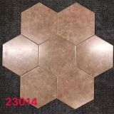 Matt Porcelain 200x230mm Brown Honeycomb Floor Tile