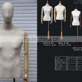 wholesale adjustable female/male mannequin upper body manikin with wooden base dummy mannequin M003- B-8W/M