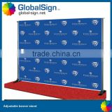 Removable trade show banner stands