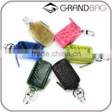 Guangzhou High Quality Custom Luxury Crocodile Python Ostrich Rare Animal Skin Leather Car Key Case Key Holder