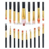Oem/odm private label long handle eyeshadow pencil makeup brush set 20pcs