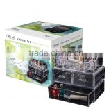 Modern fashional pure acrylic makeup organizer cosmetic organizer with drawers