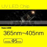Ultraviolet Light Source F5mm Line UV LED diode with 0.06W and 405nm for fluorescent spectroscopy