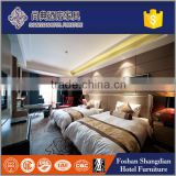 White acrylic/melamine/plywood/veneer/solied wood hotel bedroom furniture simple double bed