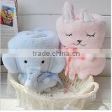 Baby Soft Toy Blankets / High Quality Baby Blanket with Elephant and Bunny Shaped