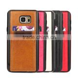 Crazy Horse pattern with card slots leather phone case and TPU 2 in 1 for Samsung note 5