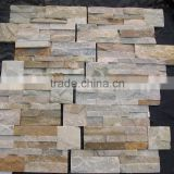 wholesale high quality cheaper price size 18*35cm yellow slate culture stone/stacked stone