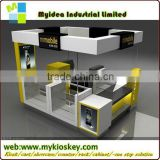 2015 Hot High Quality Fashionable Free Standing Glass Vitrine Showcase,/Kiosk for Malls /Glass Display Cabinet