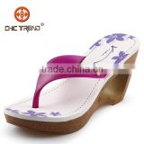 2014 high heels fashion ladies flip flops wedge Roma slippers pvc jelly shoes fashion lady shoes