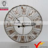 hot selling shabby chic french style home decoration round metal gift clock