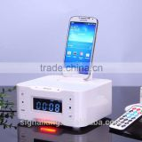A9B Bluetooth Speaker NFC LCD Alarm Clock Docking Station Wireless Bluetooth Audio Speaker with MIC For Iphone Samsung