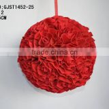Artificial Rose Ball PE roam ball for wedding decoration good design rose ball hanging for room decoration