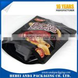 Gravure printing frozen shrimp packaging bag, sea food ziplock bag zipper bag stand up pouch