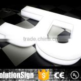 Led full lighting acrylic letter sign, 3d plastic acrylic sign letter, plastic acrylic led light letter