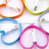 bracelet usb data cable charge sync car battery charger for iphone5 for samsung for HTC bracelet USB cable