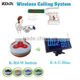 electronic number calling system with led display receiver and 100% waterproof call button