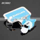 Promotional Customized Shark Shaped Magnetic Ball Marker Square Shaped Metal Golf Hat Clip