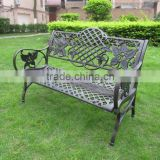 French Style Cast Aluminum Iron Metal park bench garden chair
