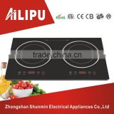 European style desk top 2 head induction cooker/dual burners induction stove/double hotplates cooktop