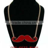 """HOT NOW"" Newest Magnetic Fashion Personalized Sexy Red Facial Hair Pendant Necklace"