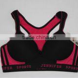 Contrast Color High Quality Ladies Sports Bra