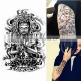 Nice Design Fashion Removable Waterproof Sakyamuni Buddha Graphic Tattoo Sticker Tattoo Body Arm Leg Art Sticker Tattoo Pattern