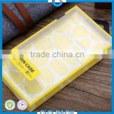 China supplier Custom small clear plastic mobile phone packaging boxes with hinged lid